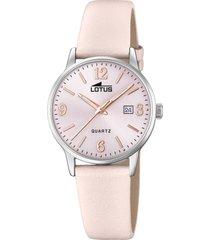 reloj acero clasico rosa lotus