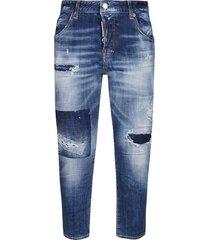 medium dark patches wash big brother jeans