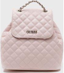 mochila rosa guess