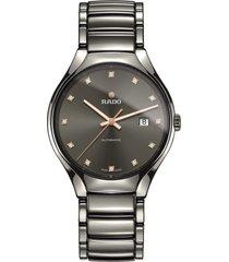 rado true automatic diamond ceramic watch, 40mm