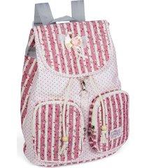 mochila ls bolsas mo3091 rosa