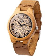 reloj madera design nerfis