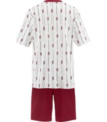 pyjamas g gregory blå/vinröd/marinblå