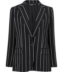 kavaj drapey satin-jacket