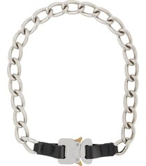 1017 alyx 9sm buckled chain necklace - silver