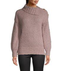 trina turk women's roll-neck knitted sweater - black - size m