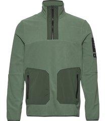 m tech fleece tn sweat-shirt tröja grön peak performance