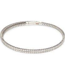 effy women's 14k white gold & diamond bangle bracelet