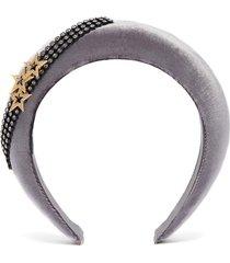 star glass crystal velvet headband