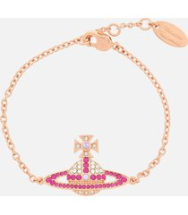 vivienne westwood women's kika bracelet - pink gold crystal fuchsia violet