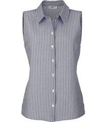 blouse mona marine::wit