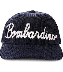 baseball corduroy cap bombardino embroidery