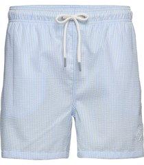 seersucker swim shorts cf badshorts blå gant
