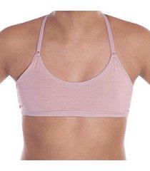 sutiã econfort juvenil top nadador em algodão linha mel feminino - feminino