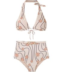 adriana degreas printed bikini set - multicolour
