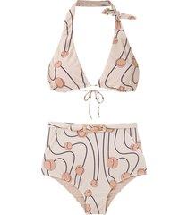 adriana degreas printed bikini set - multicolour