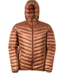 chaqueta pluma kori stripe marrón doite