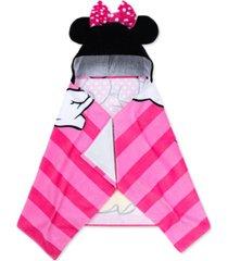 disney minnie mouse cotton stripe hooded towel bedding