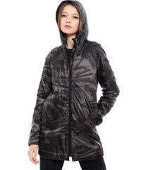 parka desigual padded coat long arty gris - calce regular