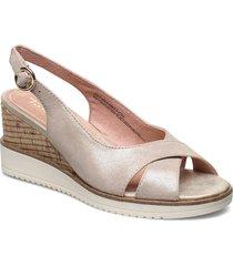 woms sandals sandalette med klack espadrilles beige tamaris