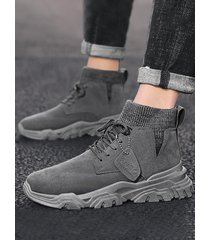 hombres estilo británico high top casual al aire libre botas