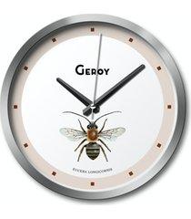 zegar ścienny pszczoła, beżowy, owady