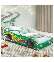 cama carro corredor solteiro verde casah