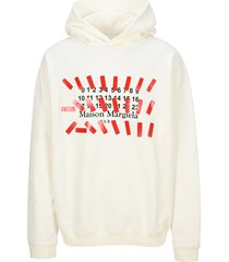 maison margiela martin margiela tape print oversized hoodie