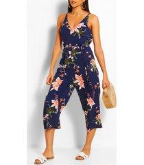 floral jumpsuit, navy