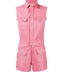 manokhi rita slim-fit playsuit - pink