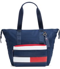 tommy hilfiger allie colorblock tote