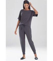 haven lounge pants, women's, zinc, size l, n natori