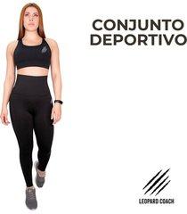 conjunto leggings de tiro alto con control abdomen