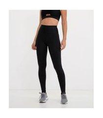 calça legging esportiva com detalhes e recortes | get over | preto | g