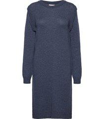 pzlucy dress knälång klänning blå pulz jeans