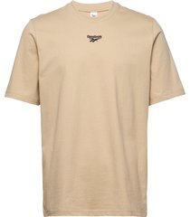 cl bball tee t-shirts short-sleeved beige reebok classics
