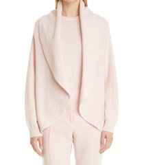 max mara rollio cashmere open cardigan, size x-large in powder at nordstrom