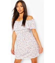 floral off shoulder skater dress, lilac