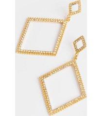 melanie tiered diamond drop earrings - iridescent