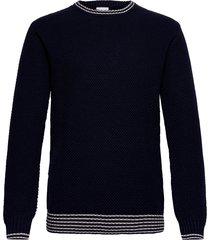 franklin pineapple knit gebreide trui met ronde kraag blauw les deux