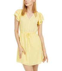 maison jules printed drawstring-waist dress, created for macy's