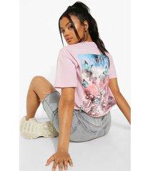 petite ye saint west t-shirt met rugopdruk, lilac