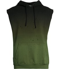 styx distressed sleeveless hooded ombre sweatshirt