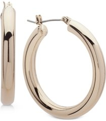 "dkny 1 1/5"" thick hoop earrings, created for macy's"