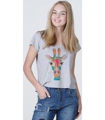 camiseta basica mirat girafa mescla