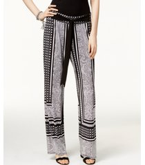 inc petite printed soft pants, created for macy's