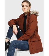 chaqueta jacqueline de yong terracota - calce regular