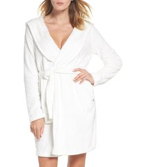 women's ugg miranda robe, size large - white