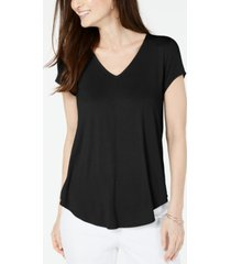 alfani v-neck knit top, created for macy's