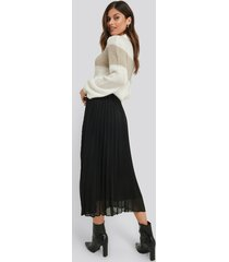 na-kd trend ankle length pleated skirt - black